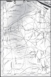 Старинная карта Зверевских окрестностей, 1850 год