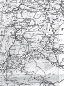 Фрагмент дорожной карты Области Войска Донского. Конец XIX века