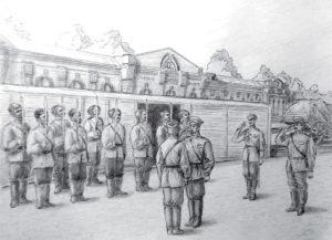 российский император Николай Второй на станции Зверево торжественно прощался с казаки 4-й Донской дивизии